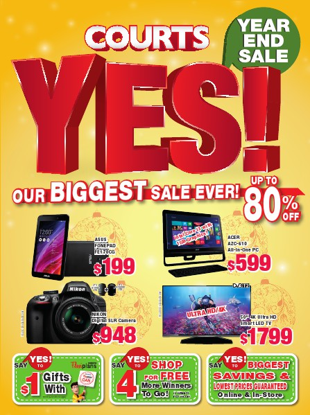 Courts Year End Sale 2014