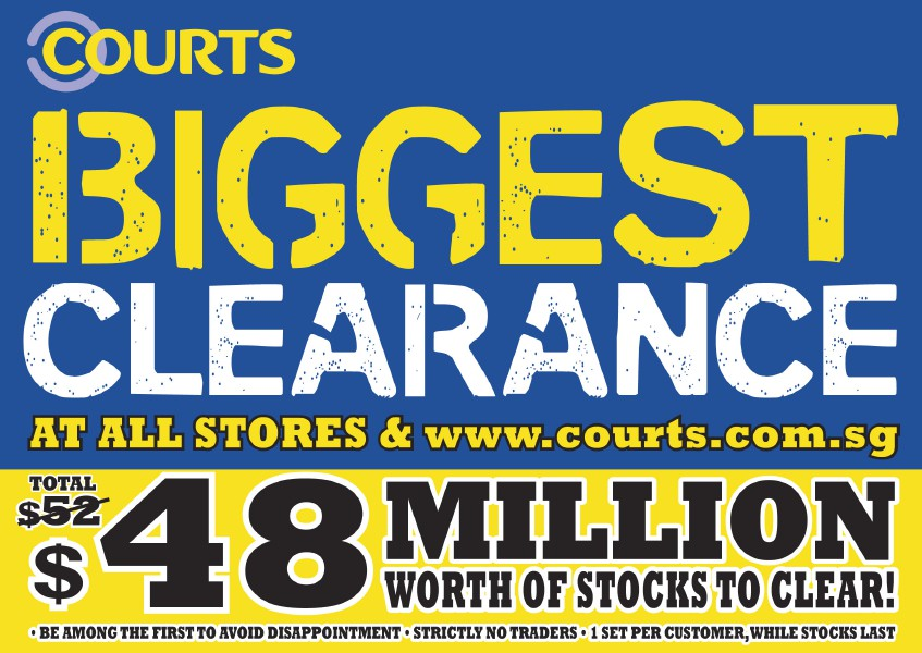 Courts Biggest Clearance