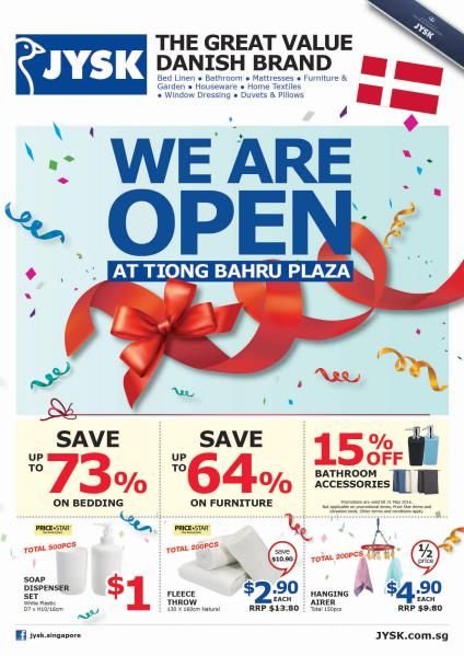 JYSK Online Catalogue Opening Deals at Tiong Bahru