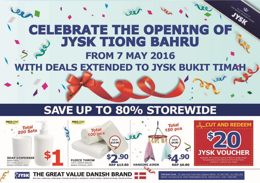 JYSK Online Catalogue Celebratory Deals at Bt Timah