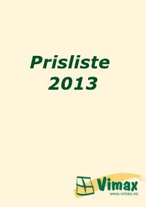 Vimax Prisliste 2013 Juli 2013