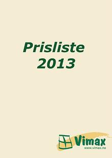 Vimax Prisliste 2013