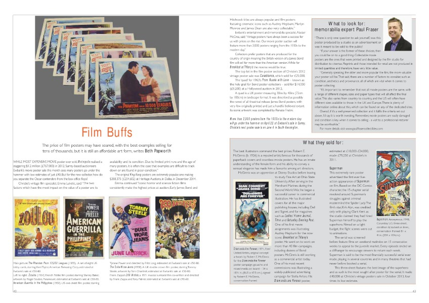 Antique Collecting articles Film Buffs