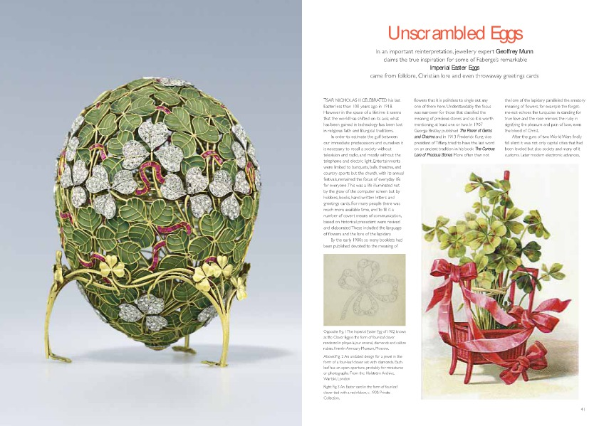Antique Collecting articles Unscrambling Fabergé Eggs