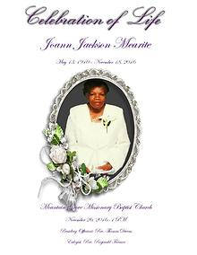 Joann Mearite's Celebration of life