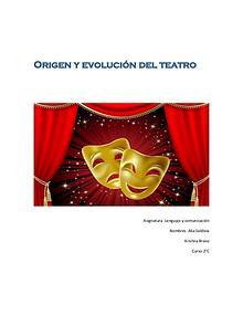 Linea de tiempo del origen y evolución del teatro