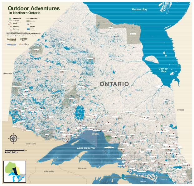 map of northern ontario choice image