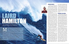 Laird Hamilton summer 2012 cover story, LIVING WELL Magazine