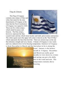 Uruguay May 2013 volume 5