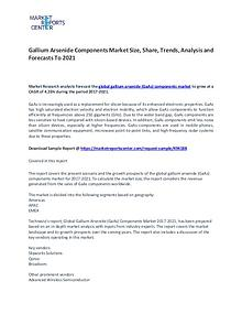 Gallium Arsenide Components Market Size, Share, Growth and Analysis