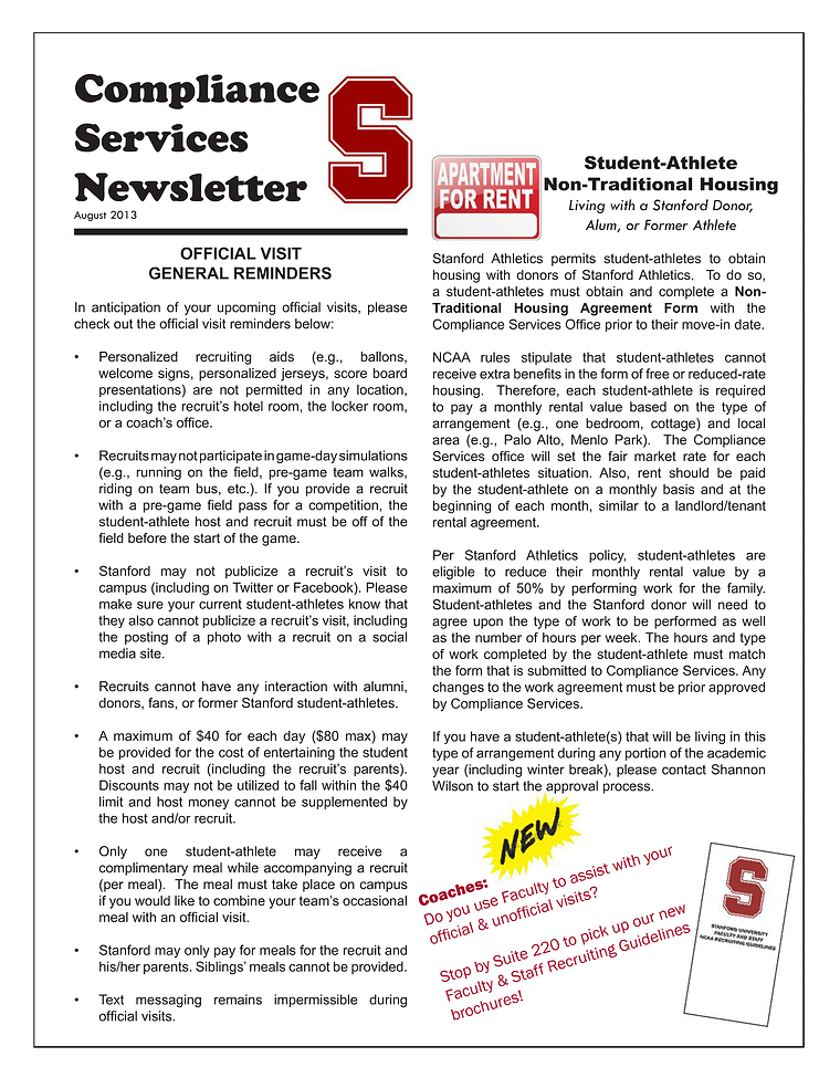 2013-2014 Stanford CS Newsletter August 2013