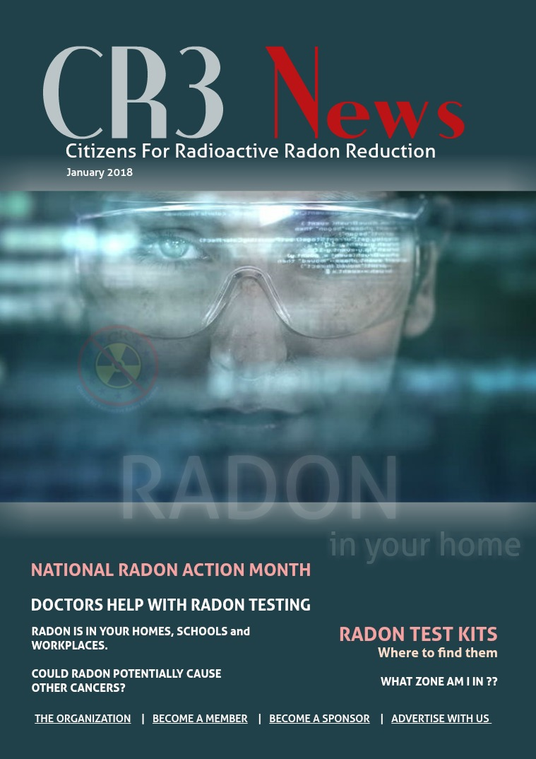CR3 News Magazine 2018 VOL 1: January: National Radon Action Month