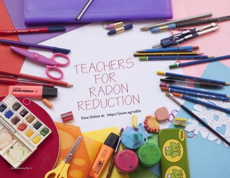 CR3 News Magazine Teachers for Radon Reduction