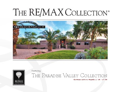 The RE/MAX Collection Magazine November 2013 The Paradise Valley Collection