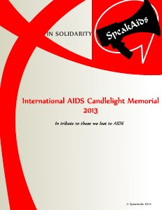 International AIDS Candelelight Memorial 2013 1