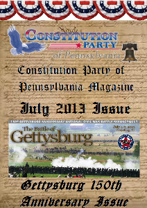 Constitution Party of Pennsylvania Magazine July 2013