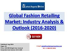 Global Analysis of Fashion Retailing Market Forecast to 2020