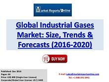 Industrial Gases Market Analysis, Trends and Global Forecast by 2020