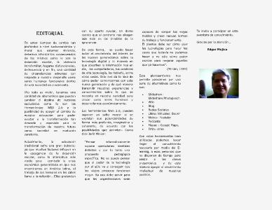 Las herramientas Web en la educación de hoy 05/2013