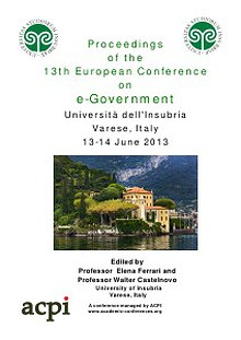 13th European Conference on eGovernment – ECEG 2013