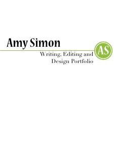 Amy Simon: Portfolio Volume I