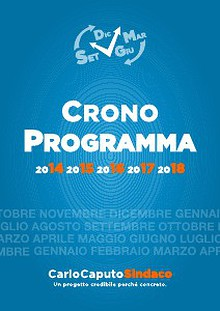 Carlo Caputo Sindaco: Il Cronoprogramma
