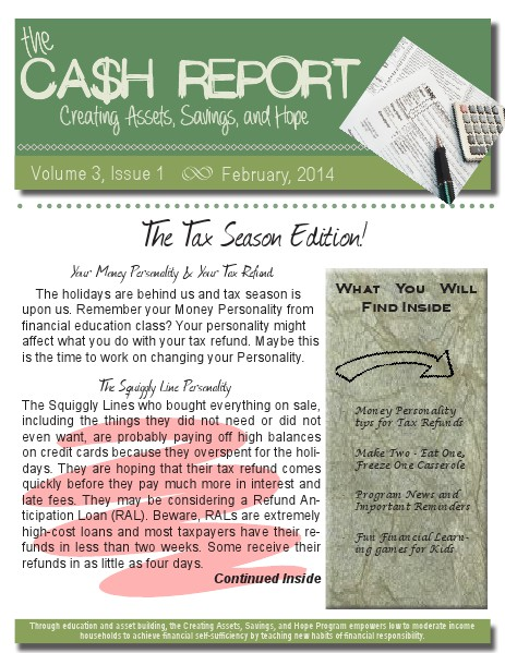 The CASH Report Volume 3, Issue 1