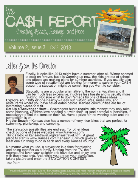 The CASH Report Volume 2, Issue 3