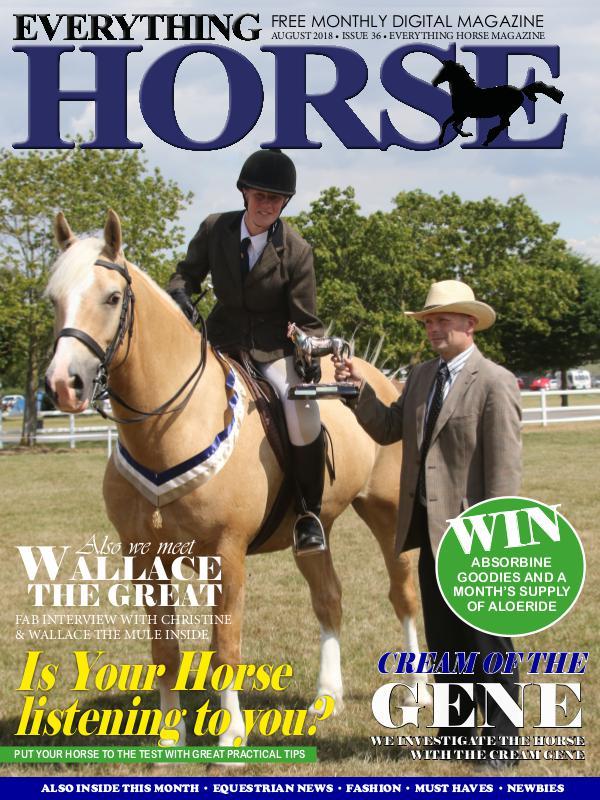 Everything Horse Magazine, August 2018.