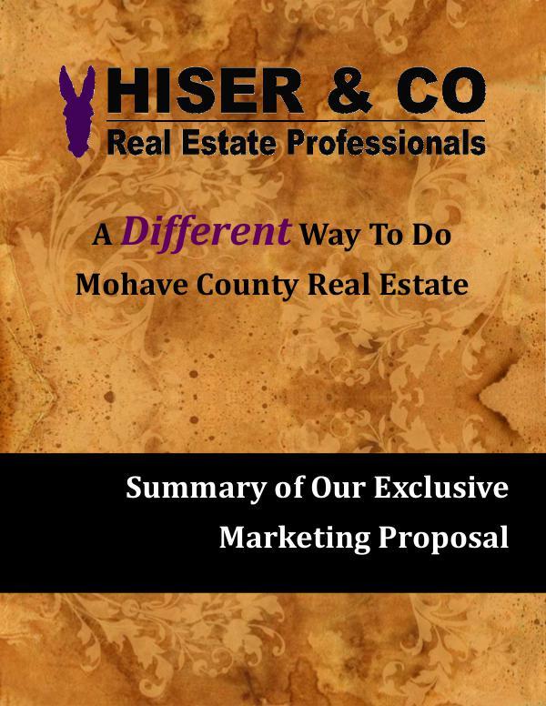 Hiser & Co Exclusive Marketing Plan HC Marketing plan for HUD