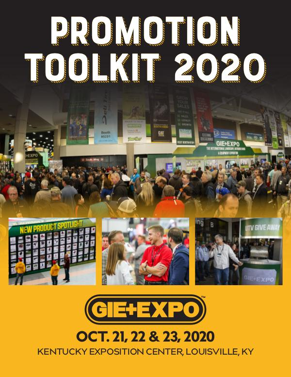 Promotion Tool Kit GIE+EXPO 2020