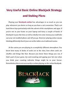 Very Useful Basic Online Blackjack Strategy and Staking Plans