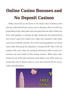 Online Casino Bonuses and No Deposit Casinos