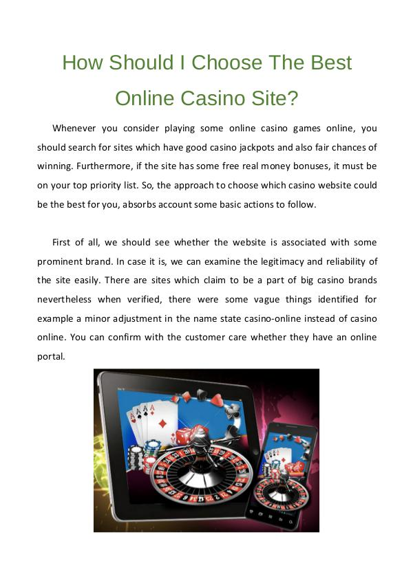 online casino choose