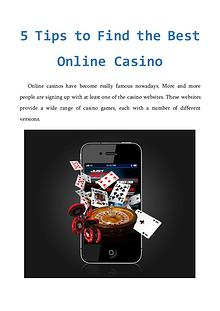 5 Tips to Find the Best Online Casino