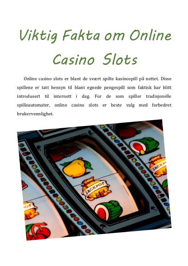 Hvordan spilleautomater virker - fakta om casino slots