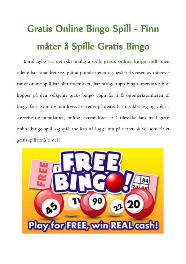 Spill online gratis