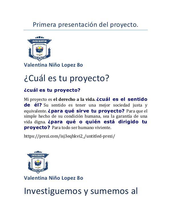 Primera presentación del proyecto COMPETENCIAS CIUDADANAS