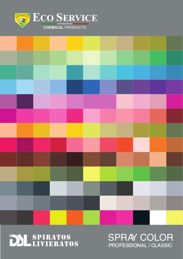 Spray colours - DSL catalogo-colori
