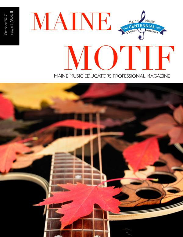Maine Motif Issue 1, Vol. II (Fall, 2017)