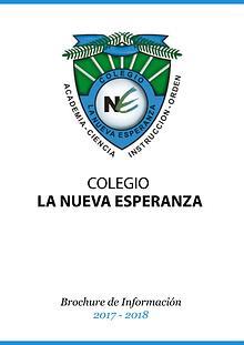 Brochure Colegio La Nueva Esperanza 2017