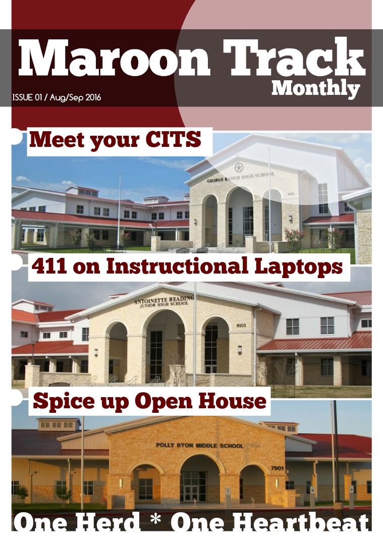 Maroon Track Monthly 1