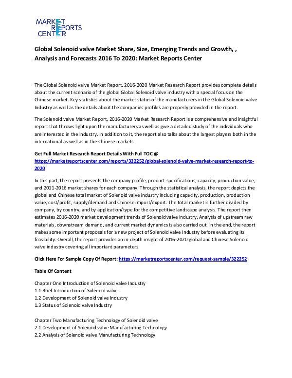 Global Solenoid valve Market