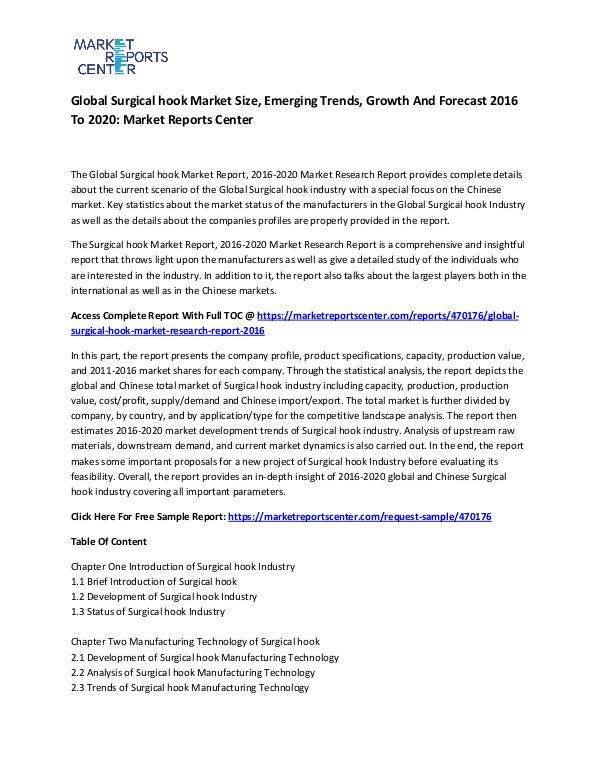 Global Surgical hook Market