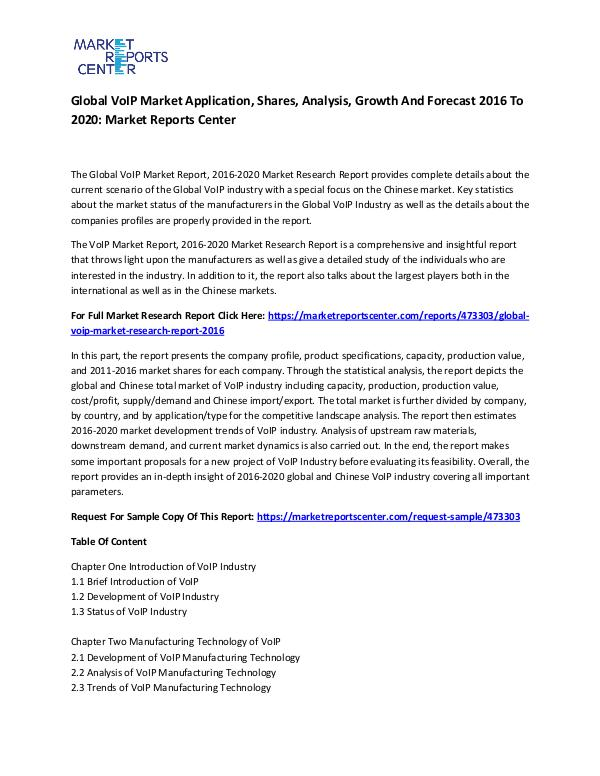 Emerging Research Reports Global VoIP Market