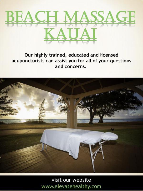 Beach Massage Kauai Beach Massage Kauai