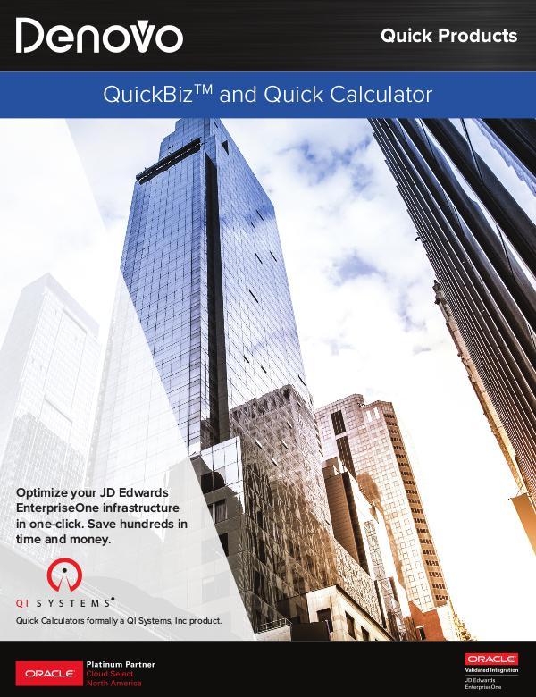 QuickBiz and Quick Calculators   Denovo 2