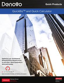 QuickBiz and Quick Calculators | Denovo
