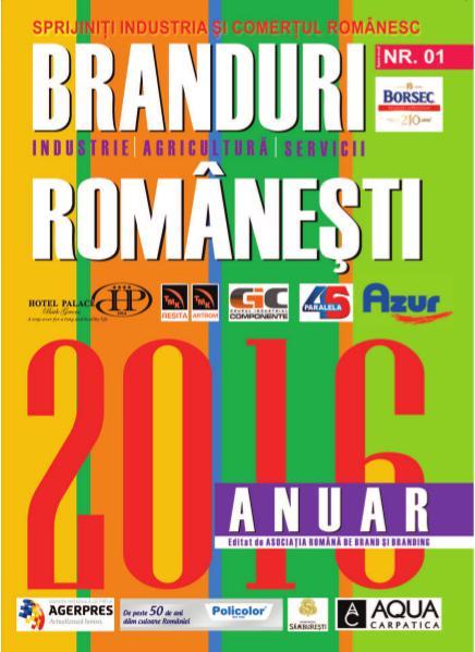 Anuarul Brandurilor Romanesti - editia 2016