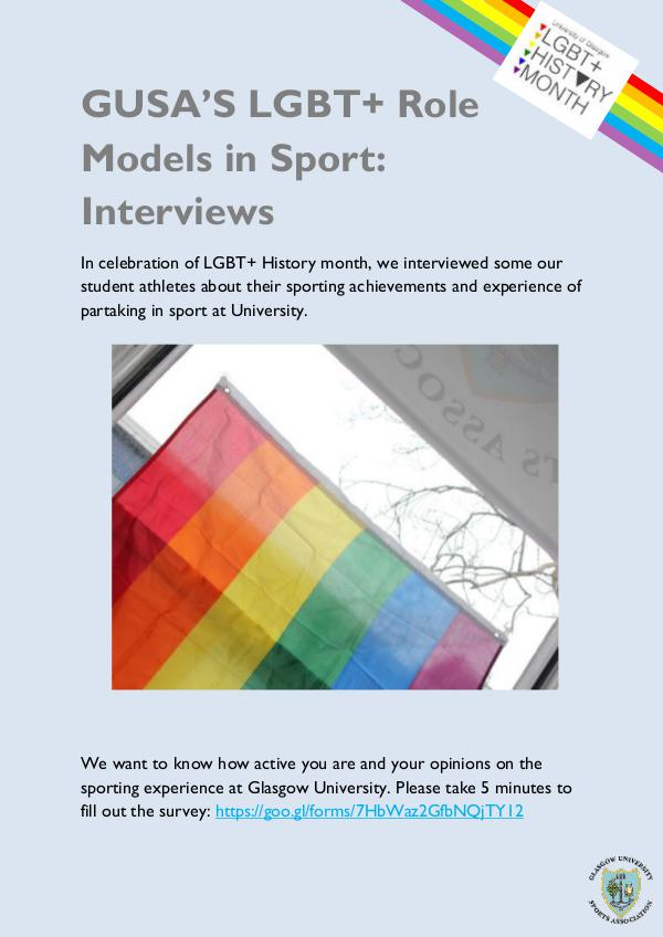 LGBT+ Role Models in Sport 1